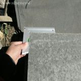 磨かれたモンゴルの黒の舗装するか、または石またはフロアーリングまたは平板またはタイル黒い花こう岩か玄武岩