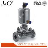 Válvula de diafragma sanitária de aço inoxidável com atuador Ss