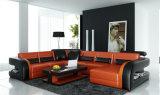 Lvingベストセラーの現代部屋の部門別の革ソファー(HC1071)