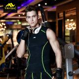 Maglia stretta della camicia di forma fisica di usura di sport degli uomini per ginnastica