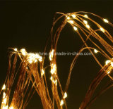 Warm White Micro LED Indoor Multi Branch Solar Powered Waterproof Copper Wire LED String Fairy Light Lamp Xmas