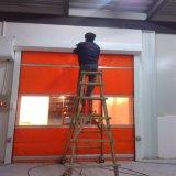 Puerta auto rápida de Industril de la puerta de plegamiento del PVC Frameless (HF-J323)