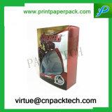Rectángulo de papel impreso color de encargo del perfume de la historieta con la ventana del PVC