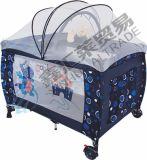 ジッパーの赤ん坊のベビーサークルが付いている第2層の蚊帳