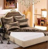 Conjunto puro de la hoja de la seda de mora de la elegancia de la nieve de Taihu de la serie de Oeko-Tex 100 de cama del café de lujo verdadero inconsútil de seda estándar de seda de ropa 19momme