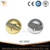 La quincaillerie de porte en alliage de zinc monté avec butée en caoutchouc (AC-3002)