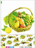 Nieuwe Ontworpen Vriendschappelijke LFGB Spunlace die pvc Afgedrukt Tafelkleed met Fruit steunen