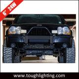 """6 """" 직사각형 24W 1800 루멘 수평한 수직 마운트 트럭 ATV UTV를 위한 off-Road LED 일 빛"""
