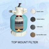 Filter van de Pool van het Zand van het Fiberglas van de Hoge Prestaties van de fabriek de Zwemmende