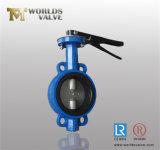 Тип эксплуатируемый рукояткой вафли клапан-бабочка с сертификатами ISO Wras Ce