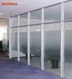 Cloisons de séparation en verre d'Alumuinum pour le bureau, salle de conférences