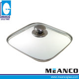 Pièces de forme ovale Vaisselle Poêle à frire le couvercle en verre trempé