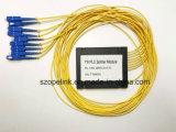 연결관을%s 가진 Gpon 원거리 통신 1X8 플라스틱 상자 PLC 쪼개는 도구