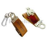 가죽 USB를 위한 선전용 선물 가죽 USB 섬광 드라이브 사업