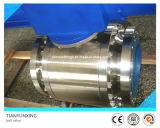 Válvula de esfera montada eixo forjada pneumática do aço inoxidável