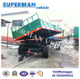 20t農業の使用の貨物ダンプのトレーラーまたは引っ張り棒のトレーラーかひっくり返るトレーラー