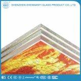 Qualitäts-Anti-Reflektierendes gerolltes strukturiertes Flamme-Muster-Glas