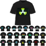 T-Shirts électro-luminescents activés par son