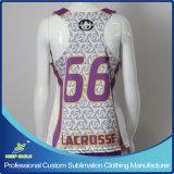 Camisola reversível personalizado de Lacrosse Raceback da menina Sublimation