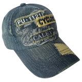 Помытая крышка джинсовой ткани с логосом #04