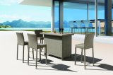 Im Freienpatio-Garten-Weidenrattan Siri Stuhl-Tisch-Stab eingestellt (J374-Bar)
