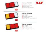 """E-MARK 10-30V aprovado 9.13 de """" luz da cauda do diodo emissor de luz 3 vagens para reboques do caminhão"""