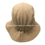 100%年のポリエステル屋外の防水軽いTaslonのベージュバケツの帽子