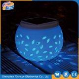 LED blanco cálido de cerámica resistente al agua Jardín de luz solar para el Césped