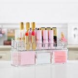 De populaire In het groot Acryl Kosmetische Doos van de Opslag met Deksel