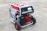 7.5Kw дистанционного запуска двигателя для тяжелого режима работы бензиновый генератор с 2X большие пневматические колеса и ручка