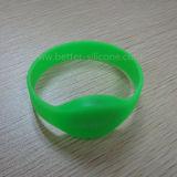 Pulseira de silicone de borracha RFID personalizada e personalizada