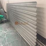 Hoja de aluminio decorativo curvo con perforación de agujeros perforados para fachada