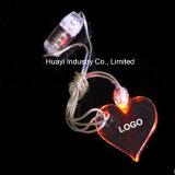 Kundenspezifische hängende LED Kristall-Halsketten der Firmenzeichen-Quadrat-Form-