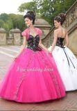 100% ha garantito 2011 ricamati ed il Organza in rilievo a - linea vestiti senza bretelle da promenade/vestiti da Quinceanera/vestiti da cocktail (ML-87067)
