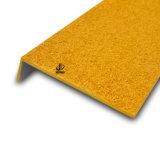 Antideslizante de aluminio / FRP / GRP huella de peldaño de escalera Nosings para piso de vinilo