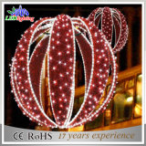 Sfere chiare rosse della decorazione LED di festa di Fram del ferro di colore di natale