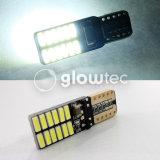 Venta super brillante LED T10 Canbus ningún error 24 SMD 4014 de la luz de Coche 12V W5w Auto COB de Minas de la puerta de la bombilla Glowtec