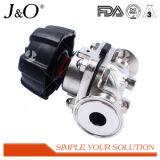 Válvula de diafragma de fixação sanitária de aço inoxidável
