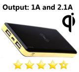 Fashion Qi Banque d'alimentation du chargeur sans fil pour l'iPhone Android avec double sortie USB 5 V CC/1A et 5V DC/2.1A, une réelle capacité 10000mAh.