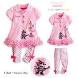 Melhor qualidade de Minnie Mouse Meninas roupas da moda define 100% algodão vestuário para crianças