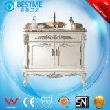 卸し売り古典的な簡単な様式の純木の浴室の虚栄心によるF8019