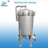 Econômico- Tipo de aço inoxidável do alojamento do filtro de mangas de água limpa para filtração de suco cerveja/