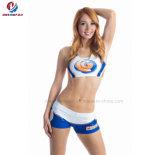 Новые настраиваемые печать Cheerleader моды прогрева Cheerleading единообразных верхней части коротких замыканий и привлекательный для взрослых