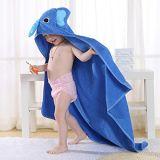 Il disegno animale 100% del cotone scherza i tovaglioli di bagno incappucciati per il bambino