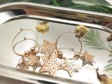 方法星様式3の星銅質シートの女性の円のイヤリング