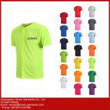 광고를 위한 주문 까만 면 승진 t-셔츠 (R36)