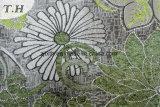 Grünes glänzendes Chenille-Polsterung-Gewebe (fth31894)