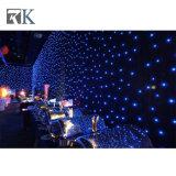 布LEDの星のカーテンの背景幕の結婚式の装飾をつけなさい