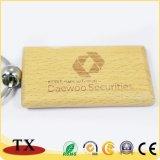 Venda a quente Eco-Friendly Promocional Chaveiro de madeira