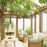 Matériau de châssis en alliage en aluminium et le jardin du toit en verre trempé Conservatory Sun chambre